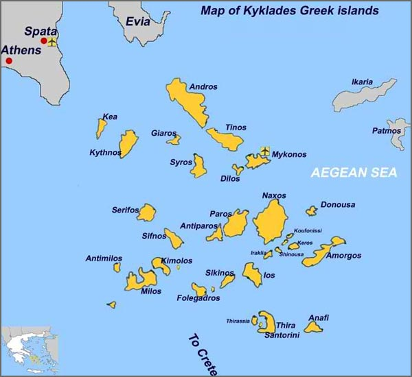 Saronic Islands Greece Map
